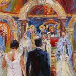 Holy Love - Greak Orthodox Wedding/ New YorkÖl auf Leinwand, 80 x 40